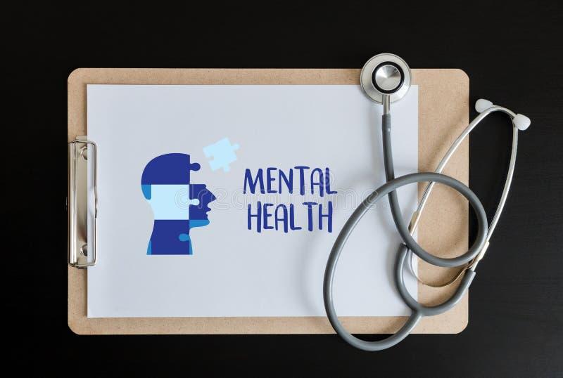 ZDROWIE PSYCHICZNE Psychologicznego stresu Umysłowy zarządzanie i Psychol obrazy royalty free