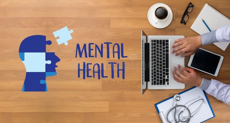 ZDROWIE PSYCHICZNE Psychologicznego stresu Umysłowy zarządzanie i Psychol zdjęcie royalty free