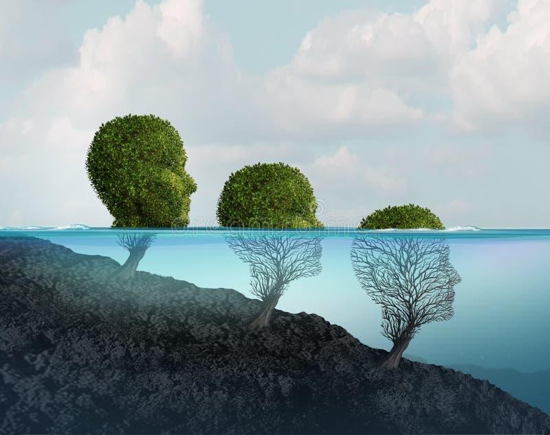 Zdrowie Psychiczne spadek ilustracji