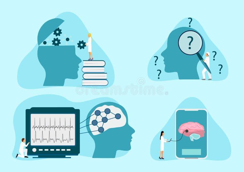 Zdrowie psychiczne terapia ilustracji