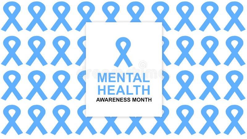 Zdrowie Psychiczne ?wiadomo?? roczna kampania podkre?la ?wiadomo?? zdrowie psychiczne ilustracji