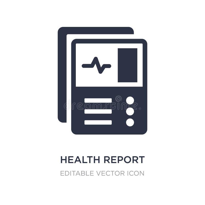 zdrowie raportowa ikona na białym tle Prosta element ilustracja od dentysty pojęcia ilustracji
