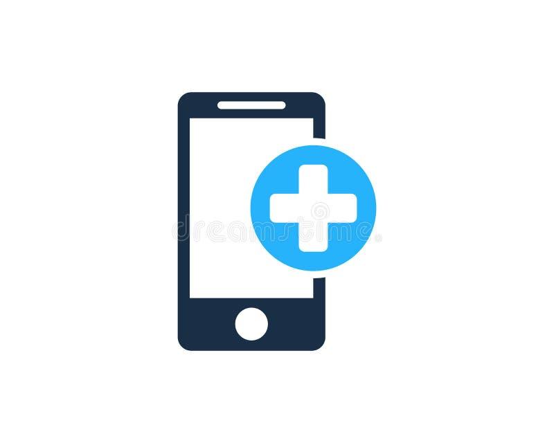 Zdrowie telefonu komórkowego ikony loga projekta Medyczny element royalty ilustracja