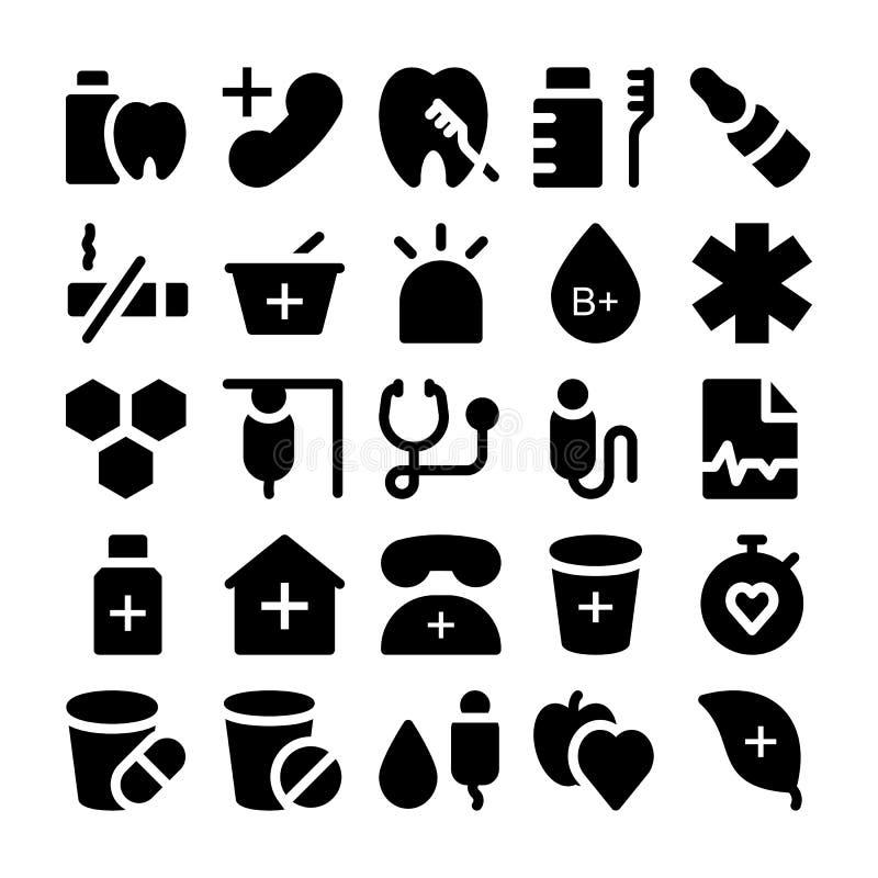 Zdrowie Wektorowe ikony 4 royalty ilustracja