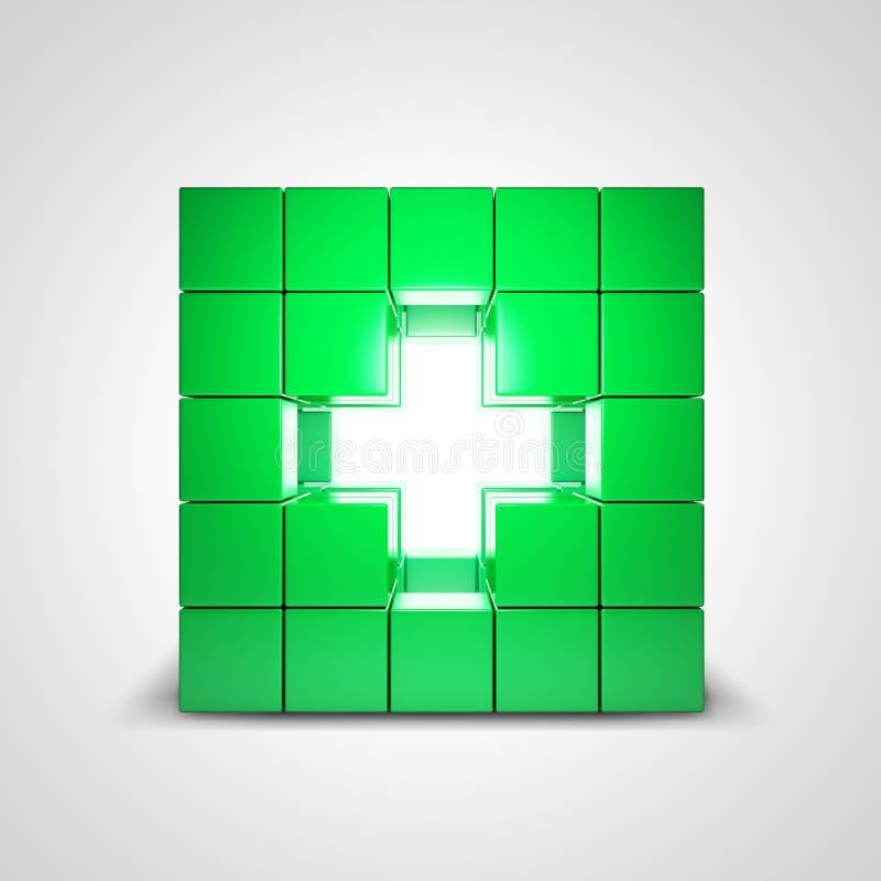 Zdrowie zielony przecinający symbol ilustracja wektor