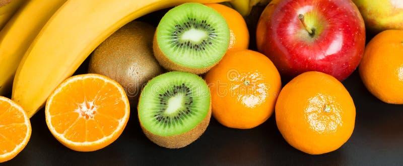 Zdrowy świeżej owoc tło zdjęcia stock