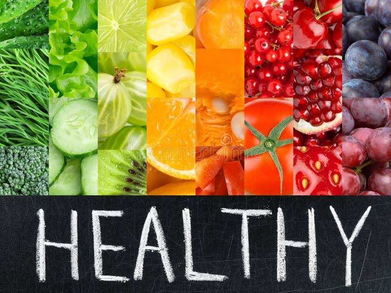 Zdrowy świeży koloru jedzenia pojęcie obraz royalty free