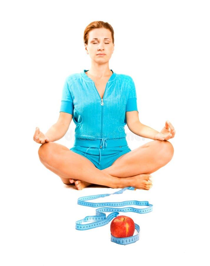 zdrowy diety ćwiczenie obrazy stock