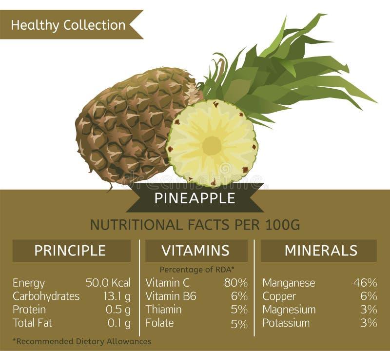 Zdrowy Inkasowy ananas ilustracji