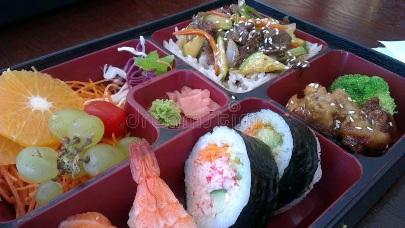 Zdrowy japończyk Bento z owoc obraz royalty free