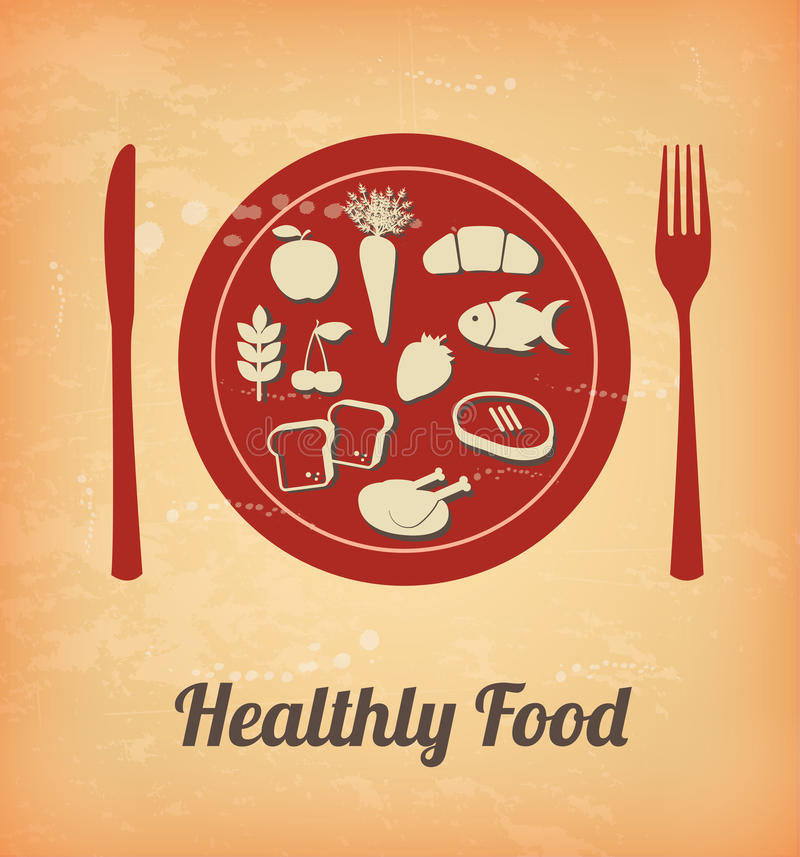 Zdrowy jedzenie ilustracja wektor