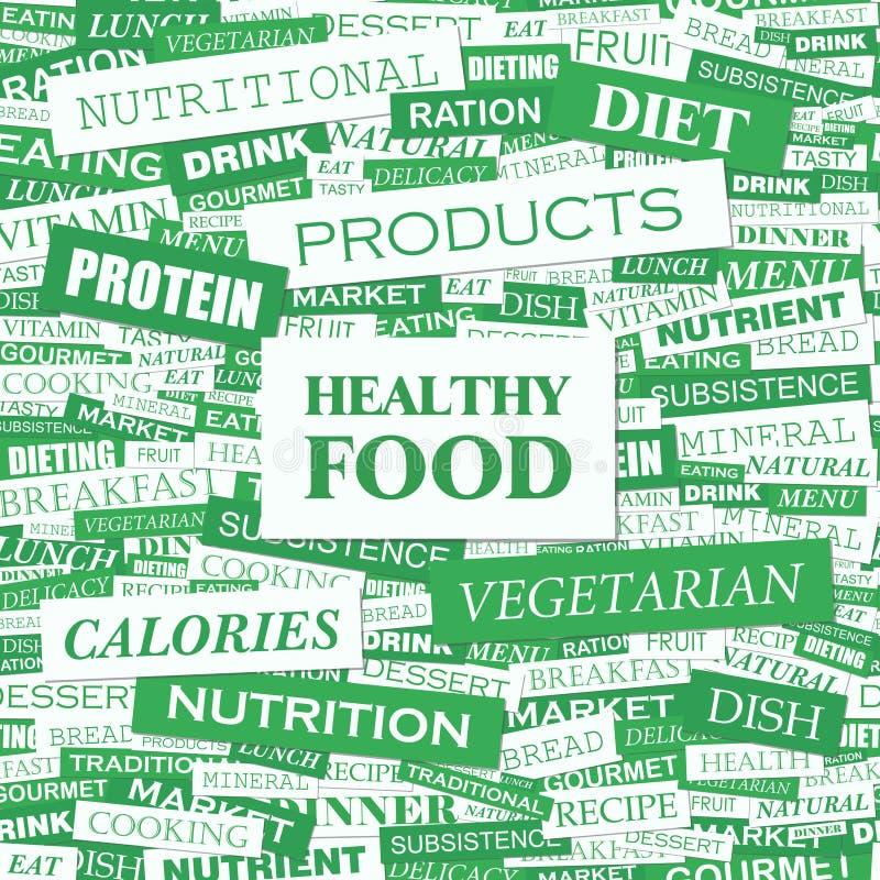 Zdrowy jedzenie ilustracji