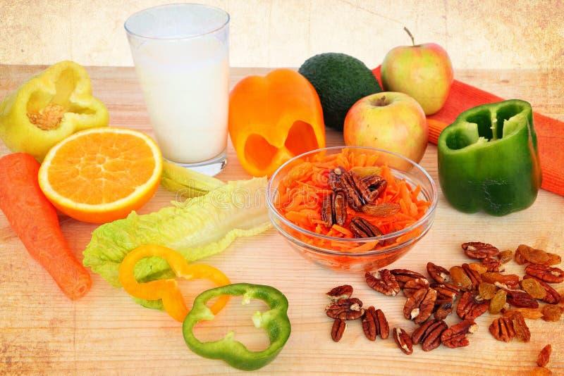Zdrowy jedzenie dla śniadania lub chałupy obrazy stock