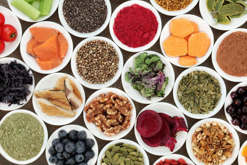 Zdrowy jedzenie dla mózg fotografia stock