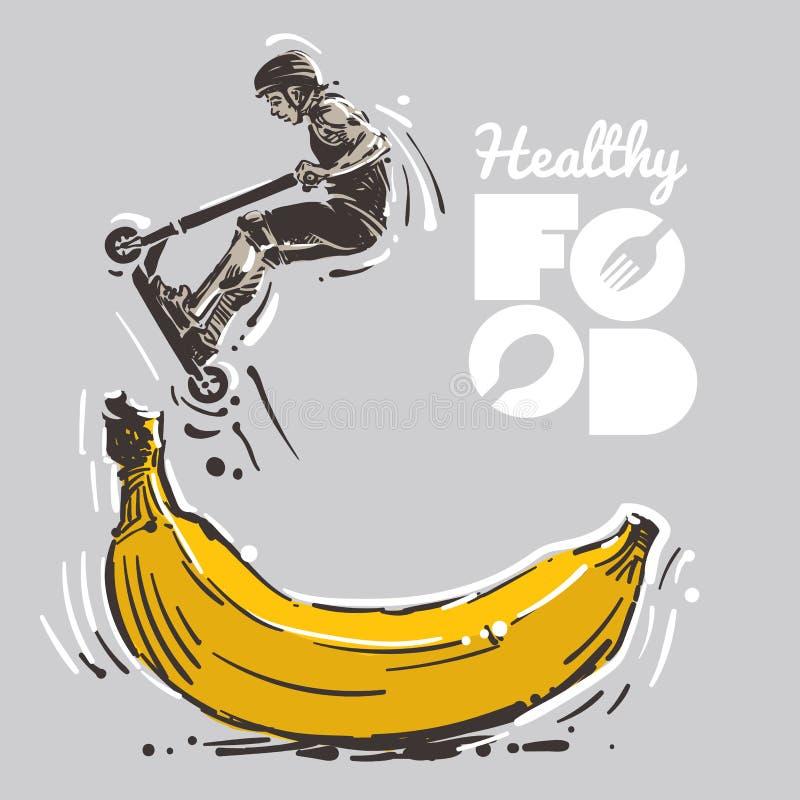 Zdrowy jedzenie dla sporta royalty ilustracja