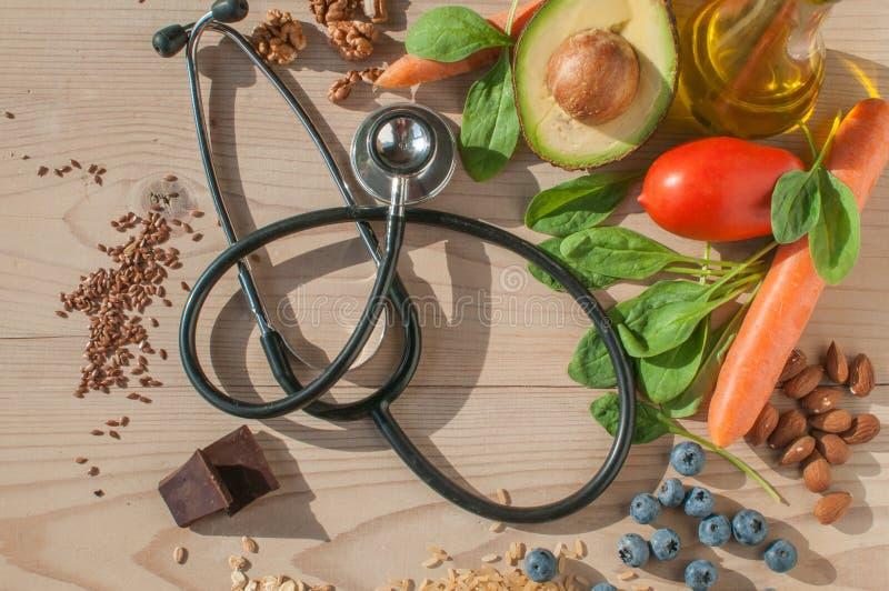 Zdrowy jedzenie dla zapobiega choroby sercowo-naczyniowe zdjęcia royalty free