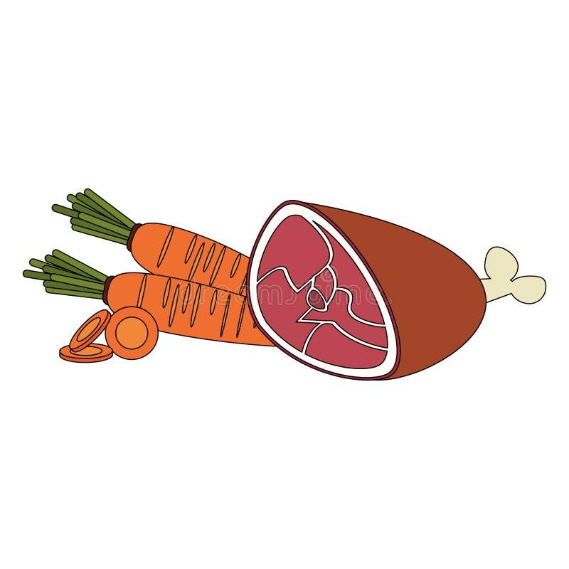 Zdrowy jedzenie i wyśmienicie składniki ilustracji