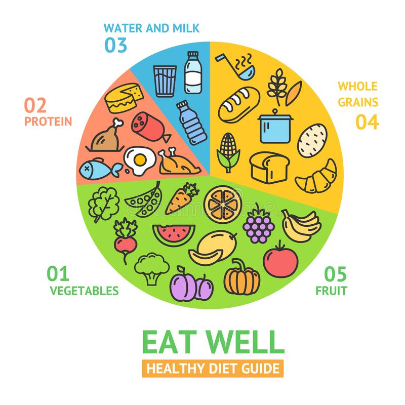 zdrowy karmowej diety pojęcie wektor ilustracja wektor