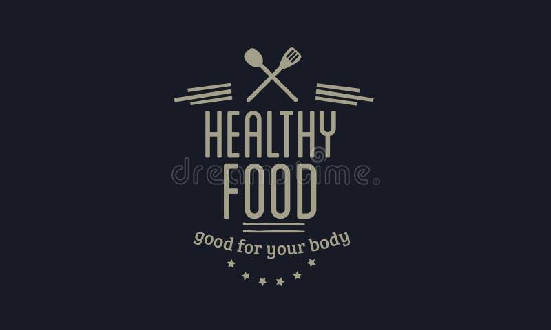 Zdrowy karmowy dobry dla twój ciała royalty ilustracja