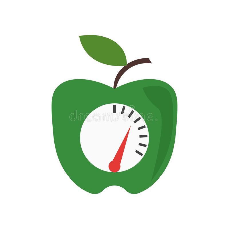 Zdrowy karmowy ikona wektoru znak i symbol odizolowywający na białym tle, Zdrowy karmowy logo pojęcie ilustracja wektor