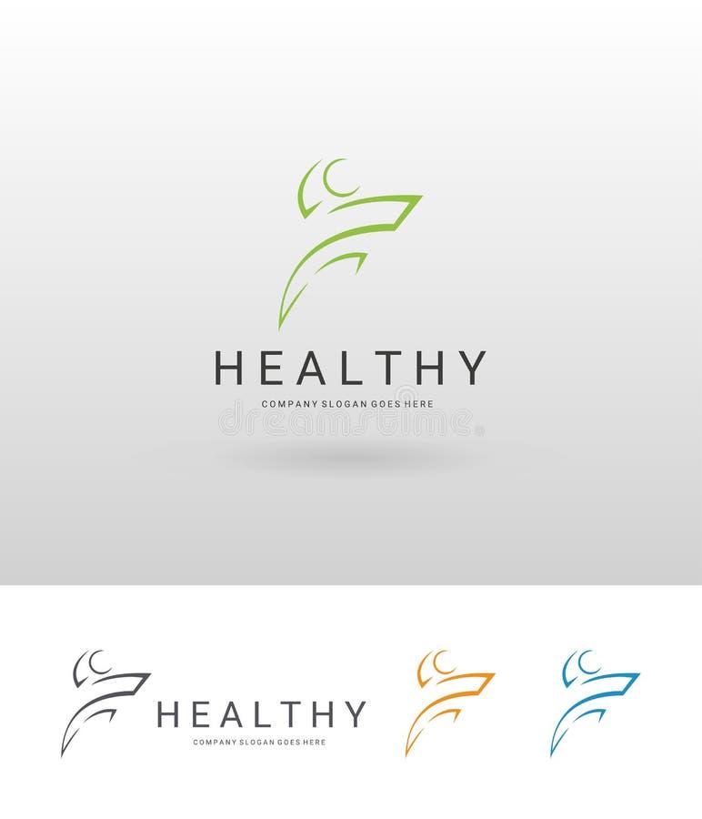 Zdrowy logo ilustracji