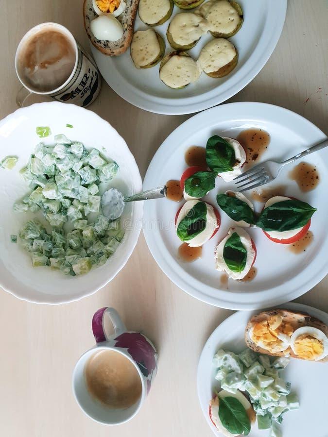 Zdrowy Niedzieli śniadanie fotografia stock