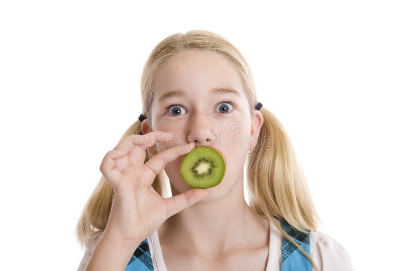 Zdrowy odżywiania wyrażenie obrazy stock