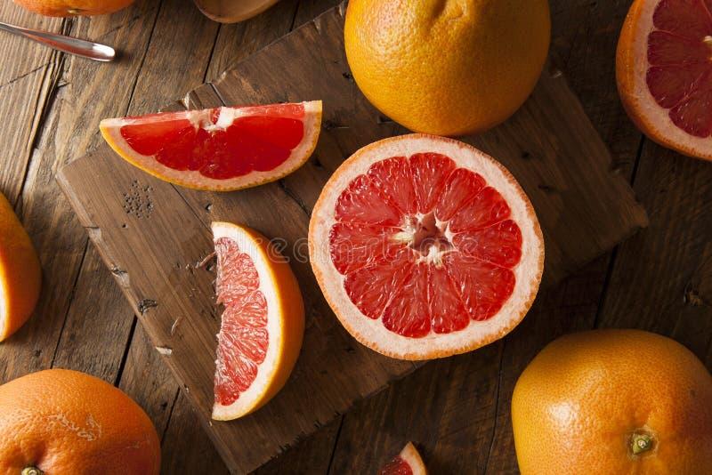 Zdrowy Organicznie Czerwony Rubinowy Grapefruitowy obrazy royalty free