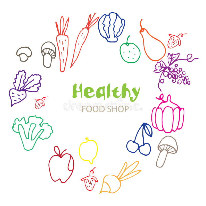 Zdrowy Organicznie eco jarosza jedzenie ilustracji