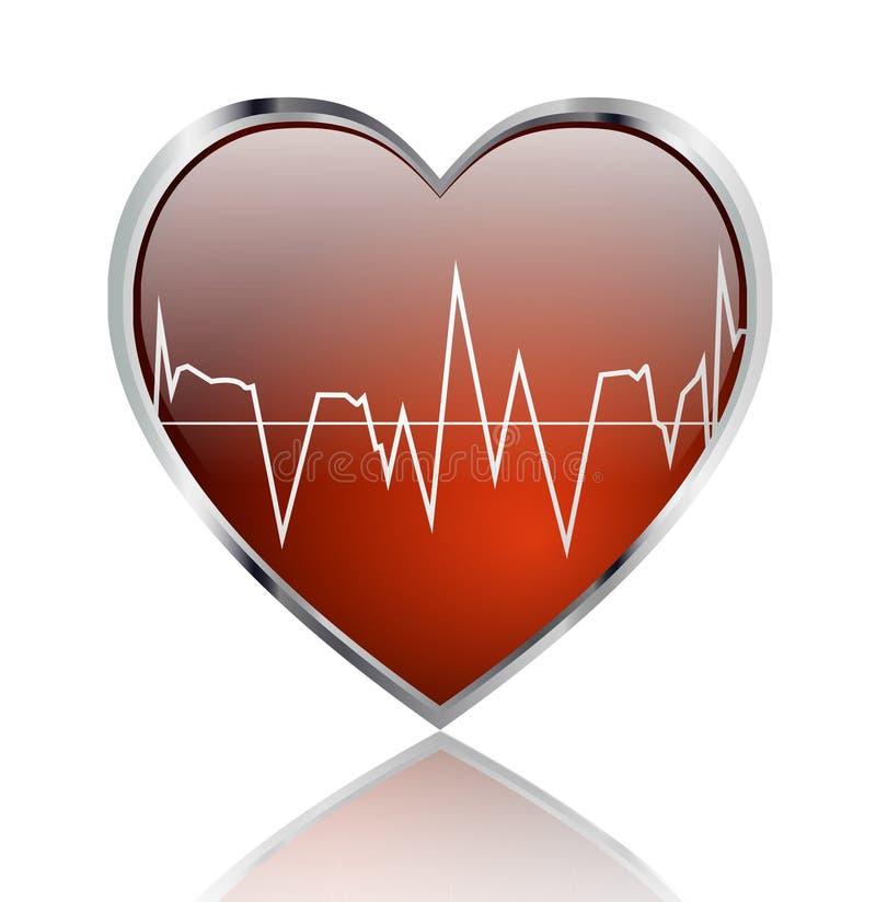 zdrowy serce ilustracja wektor