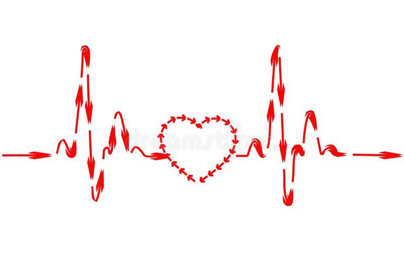 zdrowy serce royalty ilustracja