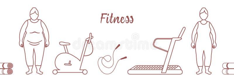 Zdrowy Styl życia Czas sprawność fizyczna _ royalty ilustracja