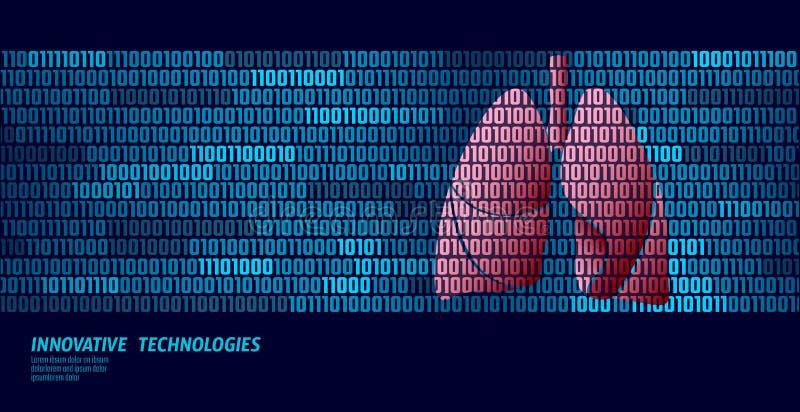 Zdrowych płuc oddechowi wewnętrzni organy binarnego kodu dane przepływ Doktorski online nowatorski technologia wektor ilustracji