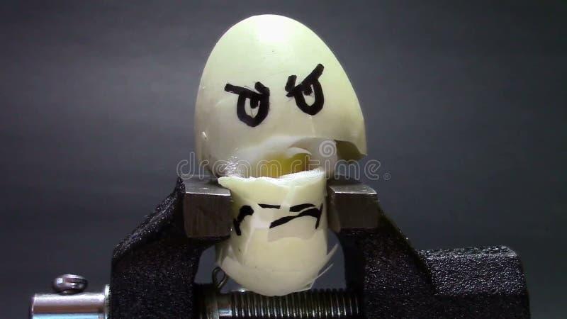 Zdruzgotany jajko w rozpuscie zbiory