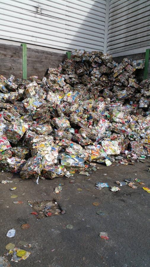 Zdruzgotany metalu odpady zdjęcia stock