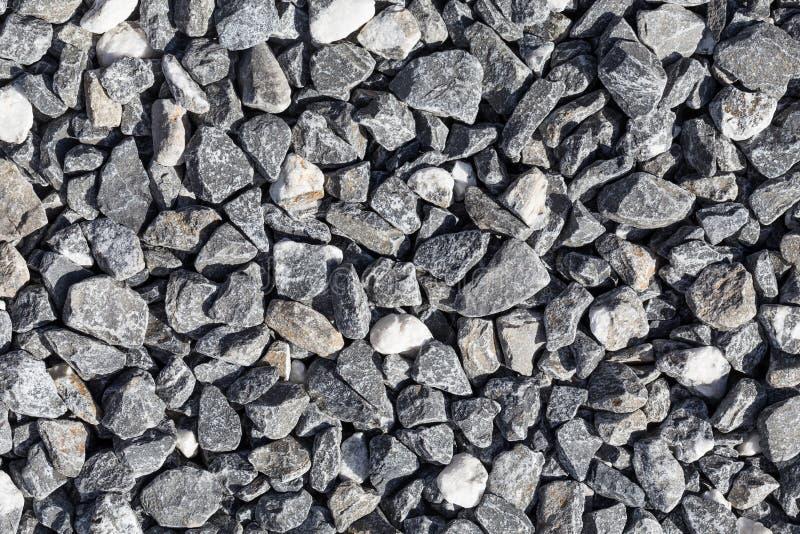 Zdruzgotany siwieje kamienie zdjęcia stock