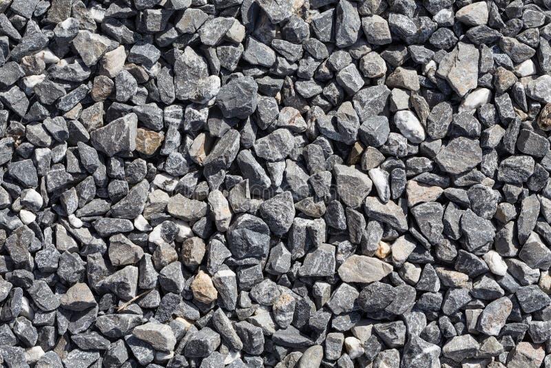 Zdruzgotany siwieje kamienie obraz stock