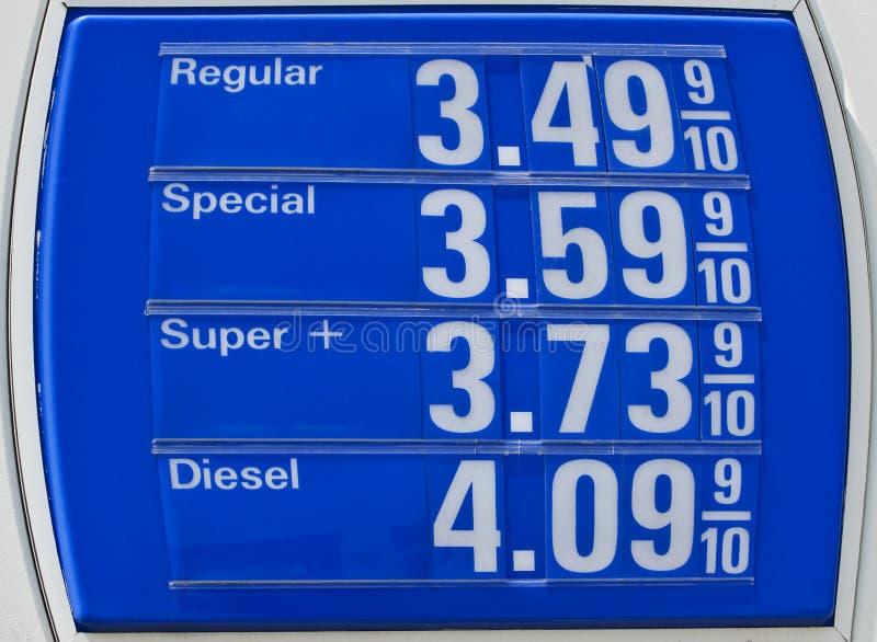 zdumiewające ceny paliwa zdjęcie stock