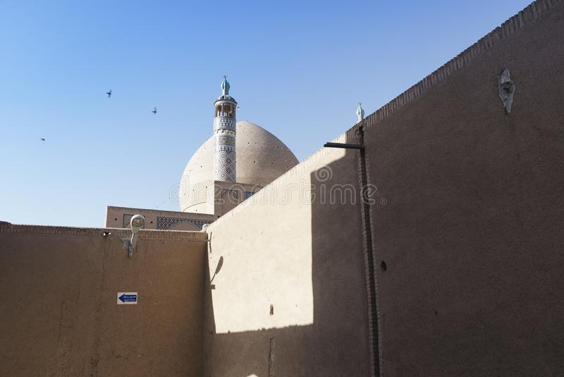 Zdumiewający okręgu skylight wśrodku Tabatabaei domu, historyczny dom w Kashan Iran obrazy stock
