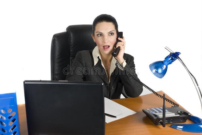 zdziwiona biznes kobieta zdjęcie royalty free