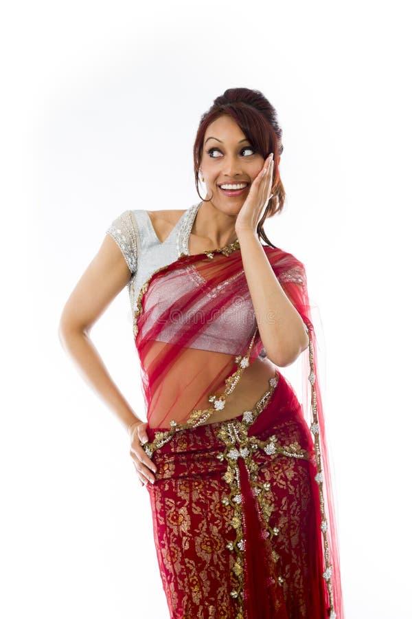 Download Zdziwiona Indiańska Kobieta Patrzeje Szczęśliwy Obraz Stock - Obraz złożonej z widok, wyrażenie: 41951613