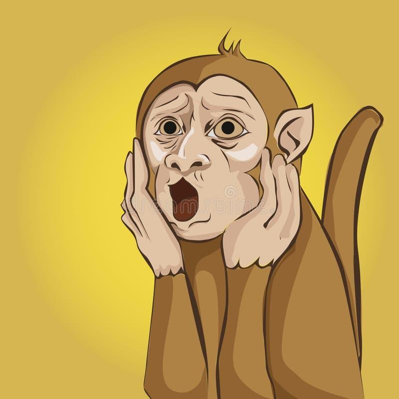 Zdziwiona małpa zdjęcia stock