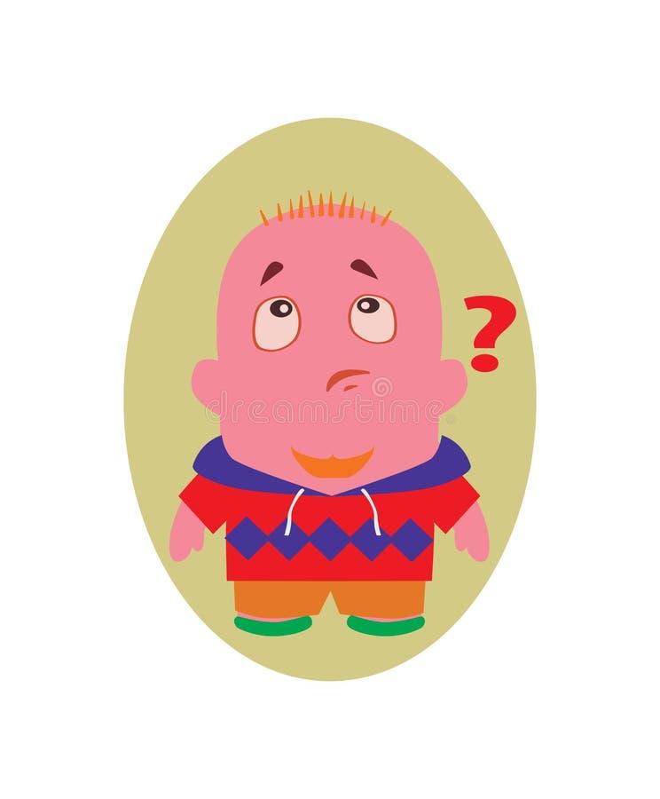 Zdziwiony, Bezmowny i Śmieszny Avatar Mały osoby postać z kreskówki w Płaskim wektorze, ilustracja wektor