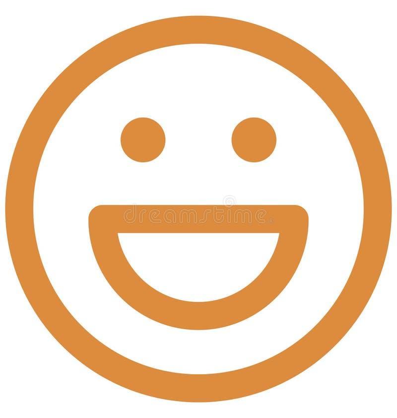 zdziwiony, emoticons Wektorowa Odosobniona ikona która może łatwo redagować lub modyfikować ilustracji
