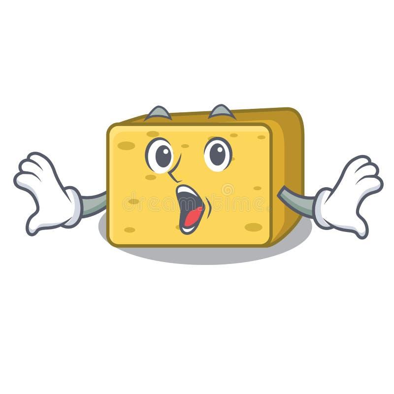 Zdziwiony gouda ser składa kreskówkę royalty ilustracja