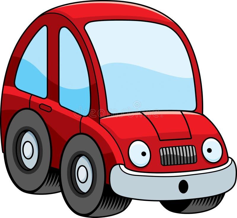 Zdziwiony kreskówka samochód royalty ilustracja