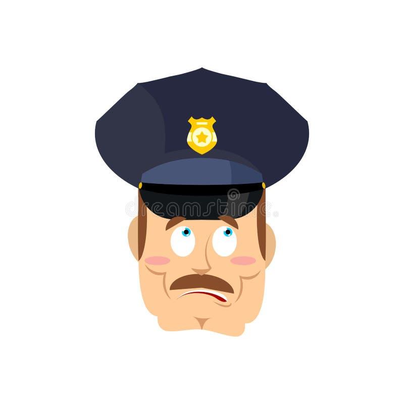 Zdziwiony policjant Zdumiony policjant zdumiewający funkcjonariusz policji royalty ilustracja