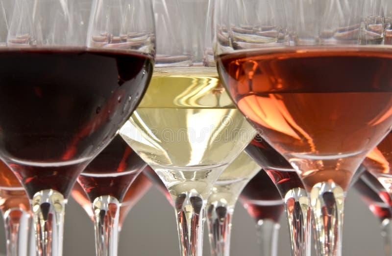 ze smakiem wina fotografia stock