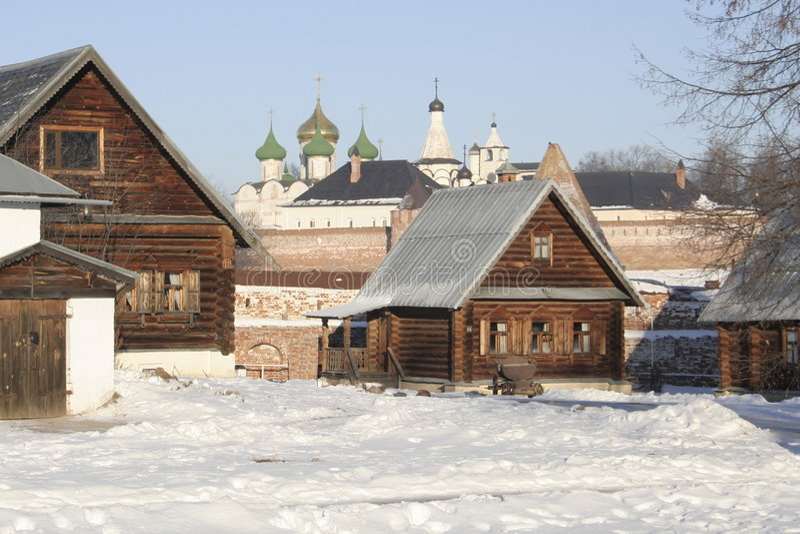 ze starego życia w Rosji fotografia stock