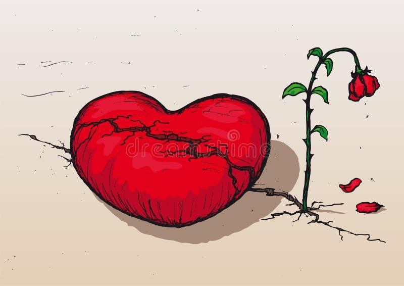 ze złamanym sercem wektor ilustracji